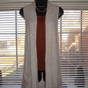 Women's Banana Republic Long Sweater Vest Tan L